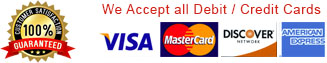 we accept debit / credit cards